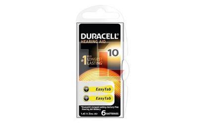 Duracell DA10 1.4V Hearing Aid Battery - 6 Pack