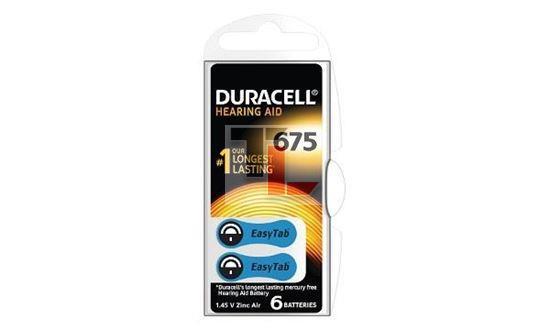 Duracell DA675 Hearing Aid Battery - 6 pack