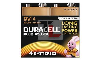 Pile Duracell Plus Power (4 pack) 9V MN1604B4