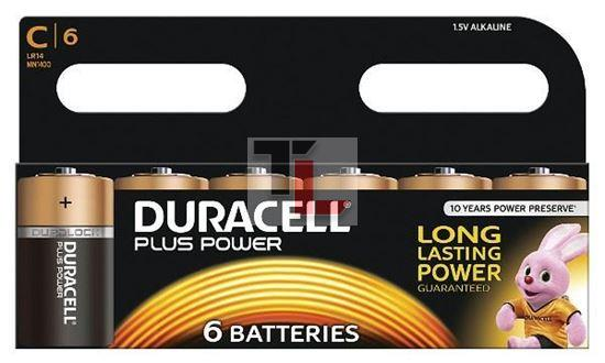 Pile Duracell Plus Power (6 pack) C MN1400B6