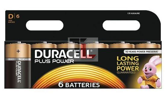 Pile Duracell Plus Power (6 pack) D MN1300B