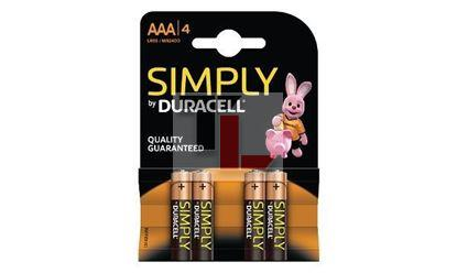 Pile Duracell Simply (4 pack) AAA MN2400B4S