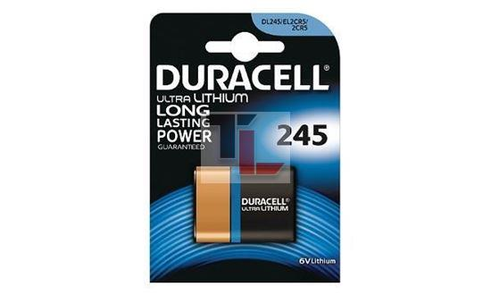 Pile per Macchine Fotografiche Duracell 245 / 2CR5 Lithium Photo Battery 6V 245 / 2CR5 DL245