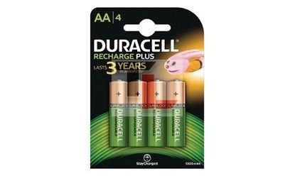 Pile Ricaricabili Duracell Rechargeable Staycharged (4 pack) - 1300mAhx10Pz AA HR6-B