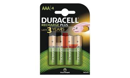 Pile Ricaricabili Duracell Rechargeable Staycharged (4 pack) - 750mAhx10Pz AAA HR3-B