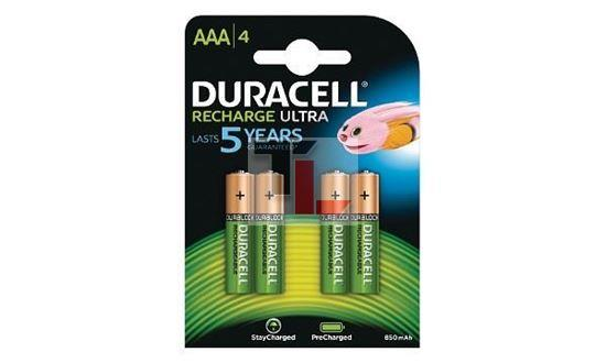 Pile Ricaricabili Duracell Rechargeable Staycharged / Precharged (4 pack) - 800mAhx10Pz AAA HR03-A