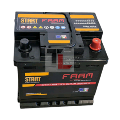 Batteria FAAM L1 55 START 55Ah 450EN