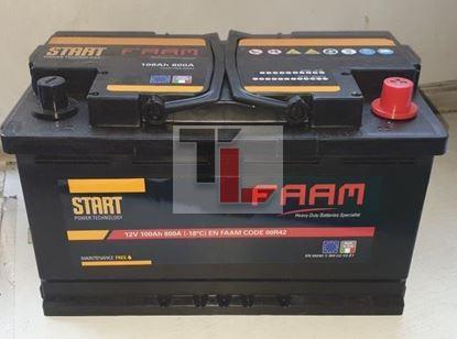 Batteria FAAM L4 100 START 100Ah 800EN